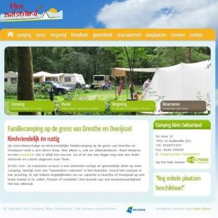 Camping Klein Zwitserland homepagina